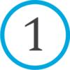 1 - синий