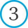 3 - синий